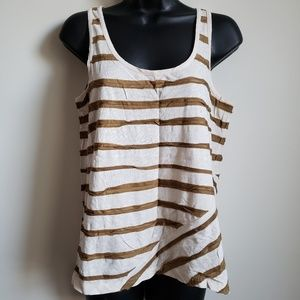 J. Crew Cotton Silk Stripe Tank